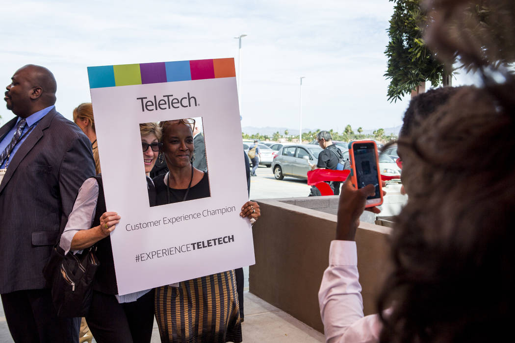 Guests at the new TeleTech call center at the Boulevard Mall in Las Vegas on Thursday, June 8, 2017. Patrick Connolly Las Vegas Review-Journal @PConnPie