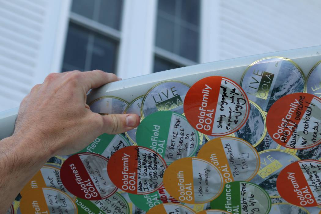 There are seven categories of life that the stickers feature: family, friends, finance, faith, field, fitness and fun.