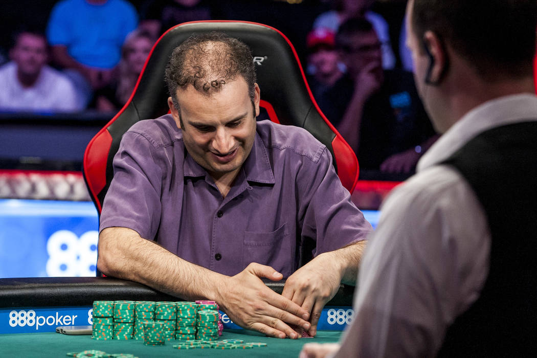 Abe Mosseri competes against Daniel Negreanu in the $10,000 Omaha Hi-Lo 8 or Better at the World Series of Poker on Wednesday, June 7, 2017.  Patrick Connolly Las Vegas Review-Journal @PConnPie
