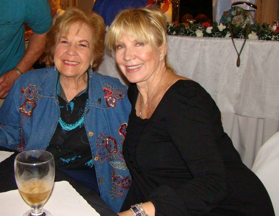 Thalia Dondero (left) and Linda Smith of Opportunity Village at a Las Vegas Media Group meeting in November 2012.