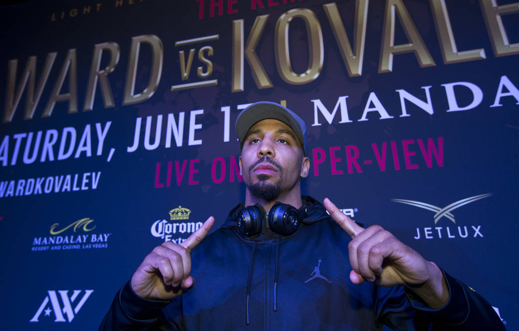 Boxer Andre Ward during the grand arrivals event at the Mandalay Bay Resort and Casino in Las Vegas on Tuesday, June 13, 2017. Sergey Kovalev will challenge Andre Ward for the Unified Light Heavyw ...