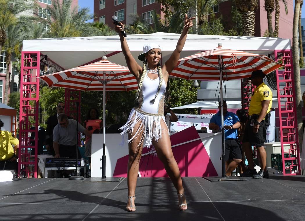 Mya at Go Pool at The Flamingo on Saturday, June 3, 2017, in Las Vegas. (Bryan Steffy)