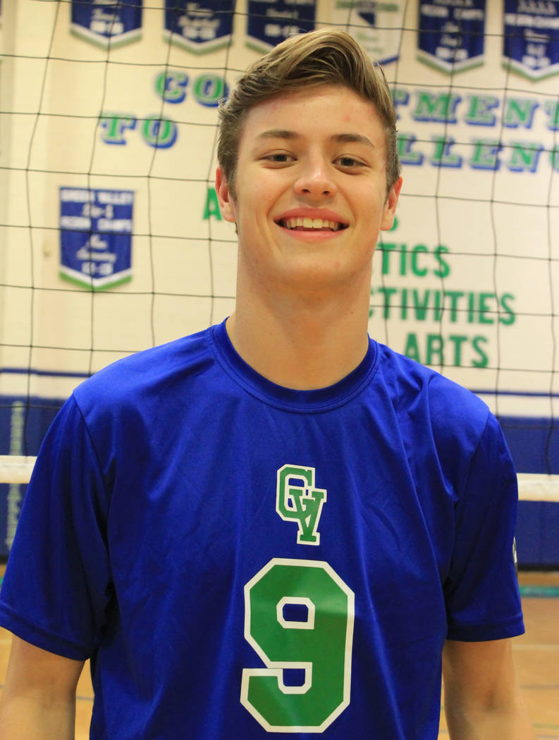 James Reed, Green Valley: The senior outside hitter was named the Southeast League Player of the Year by coaches. Reed finished with 451 kills, 63 aces, 47 blocks and 193 digs for the Gators.