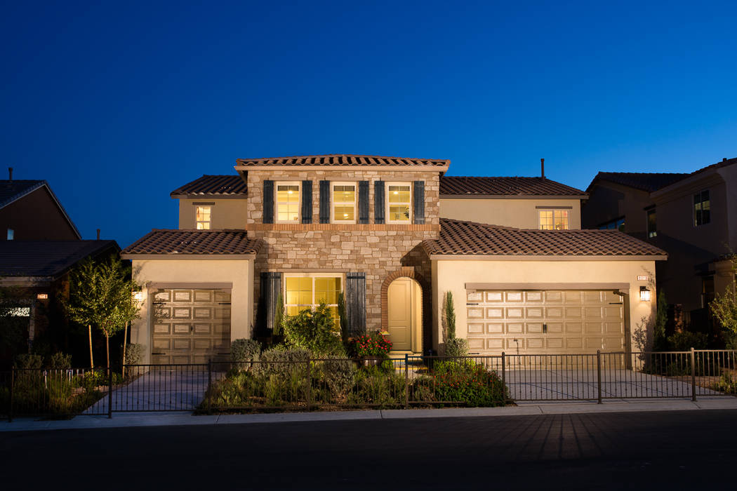 A Castle Rock Plan Three, shown here as the model home, is included in  Pardee Homes' Make Your Move event through Saturday, June 10.  Castle Rock is located in the builder's Eldorado master-p ...