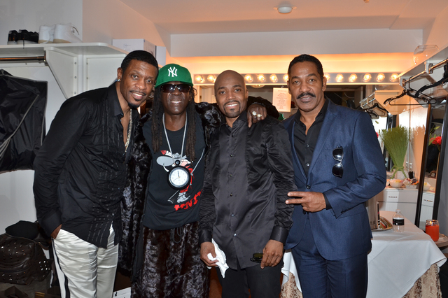 Keith Sweat, Flavor Flav, Keith Washington and Teddy Riley at The Flamingo Las Vegas. (Kodak for Caesars Entertainment)
