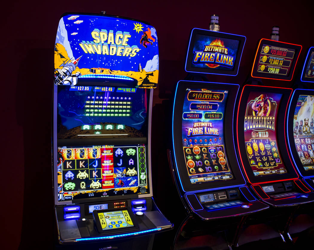 The new Space Invaders slot machine at Scientific Games on Thursday, June 8, 2017.  Patrick Connolly Las Vegas Review-Journal @PConnPie
