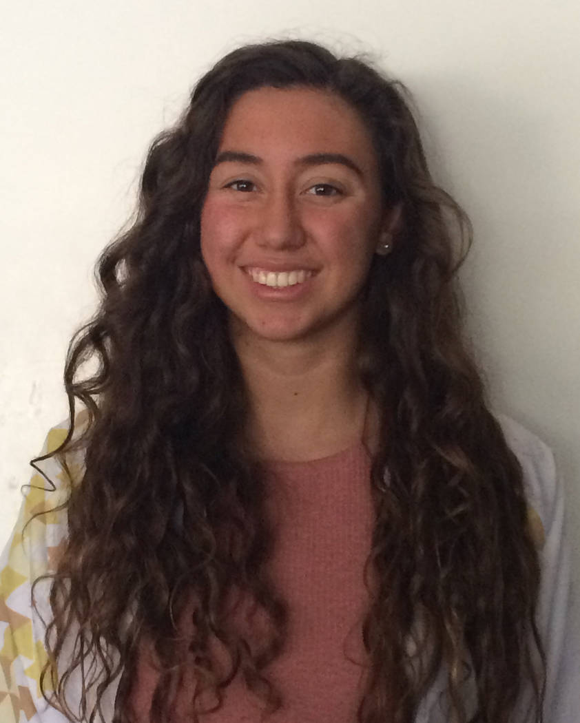Victoria Navarro, Green Valley: The junior set a Class 4A Sunrise Region meet record in the 200 freestyle (1:49.34). She won the 200 freestyle (1:50.08) and 100 freestyle (51.32) at state.