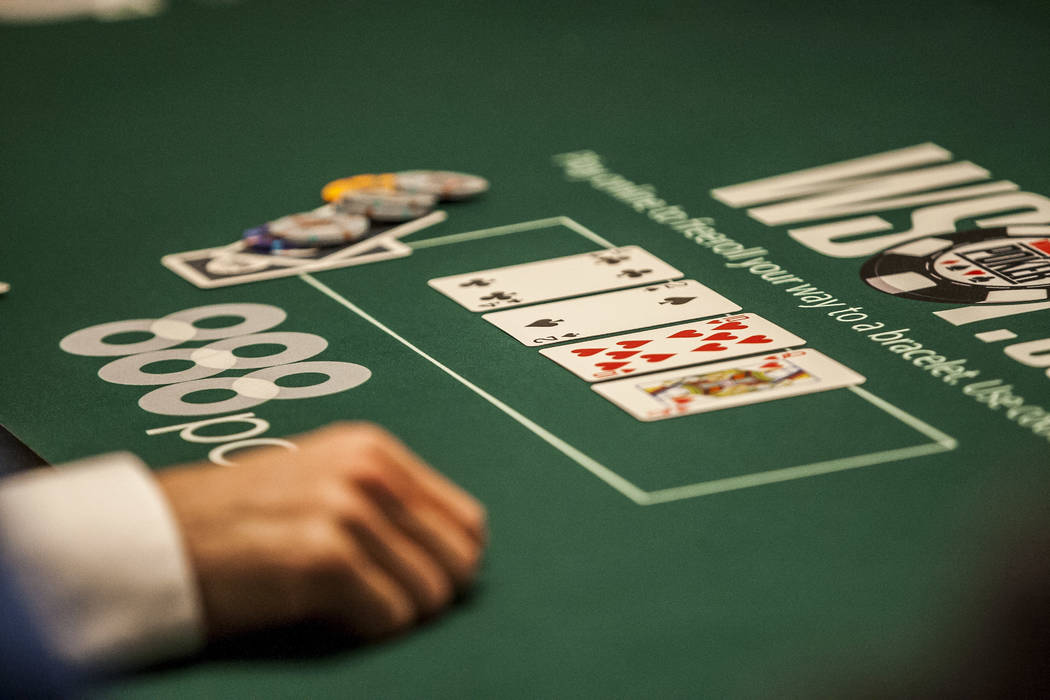 Cards on the poker table during the opening of the World Series of Poker at the Rio Convention Center on Wednesday, May 31, 2017. Patrick Connolly Las Vegas Review-Journal @PConnPie