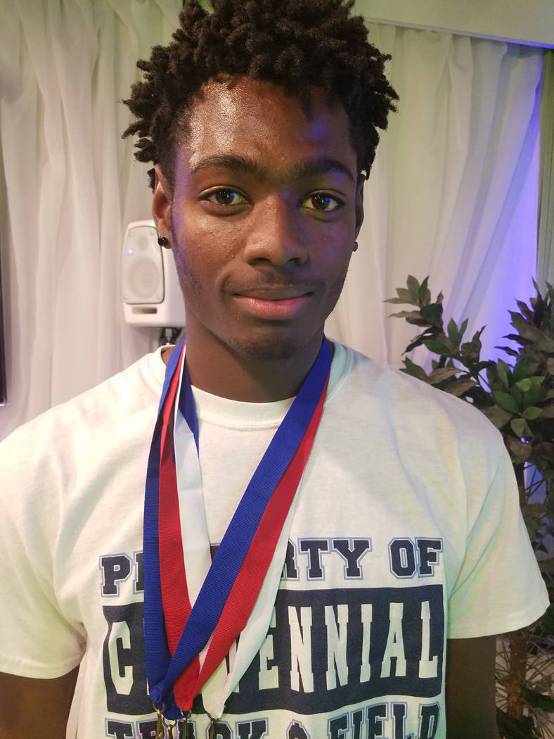 James Johnson, Centennial: The senior was on the 800 relay team at the Class 4A state meet that set an all-time Nevada record of 1:25.51. His performance in the 400 relay helped set a state-meet m ...