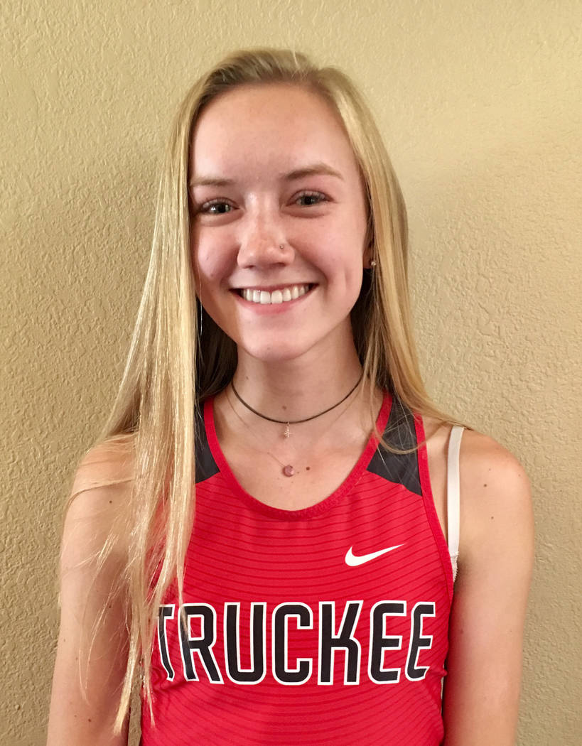 Brenna Wapstra-Scott, Truckee: The senior won the class 3A state titles in the 800 (2:21.10), 1,600 (5:07.93) and 3,200 (11:44.65), and had a second-place finish in the state 400 dash.