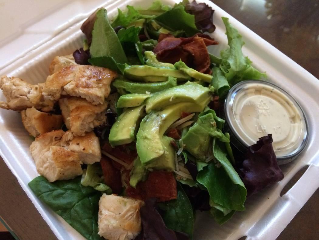 Grilled chicken Caesar salad. (Jan Hogan/View)
