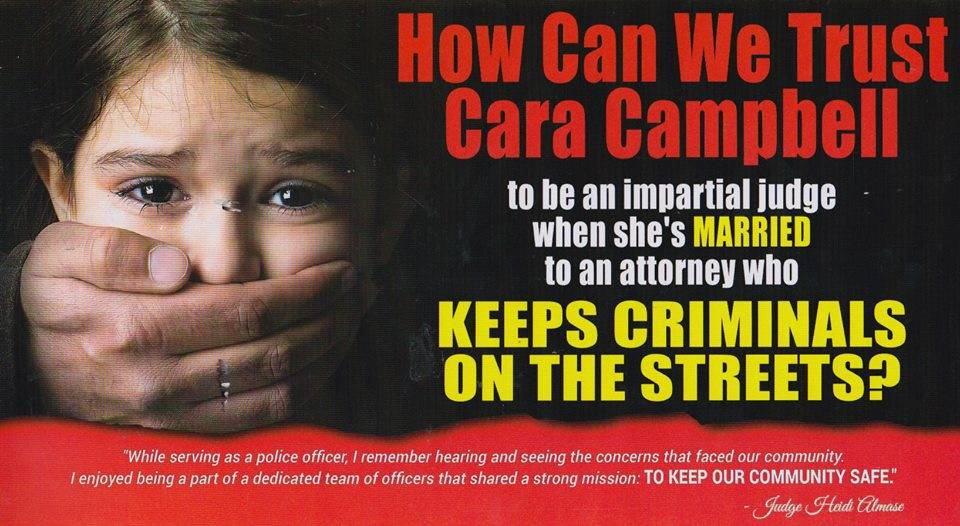Municipal Court Judge Heidi Almase drew criticism from attorneys after sending out a mailer that suggested defense lawyers 'keep criminals on the streets.'