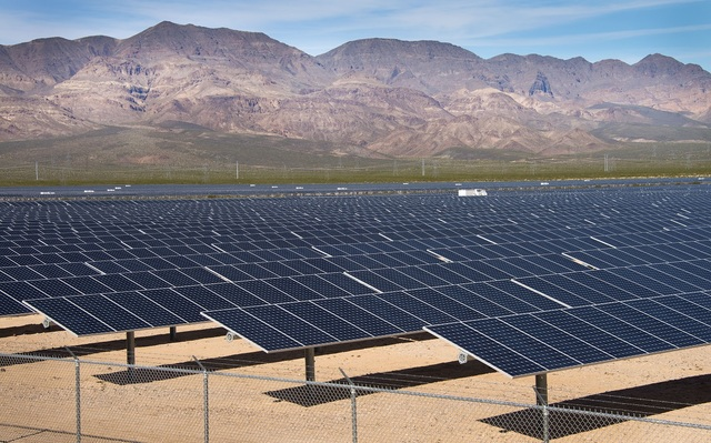 The 50-megawatt Boulder Solar 2 power plant serves NV Energy customers in Nevada. (NV Energy)