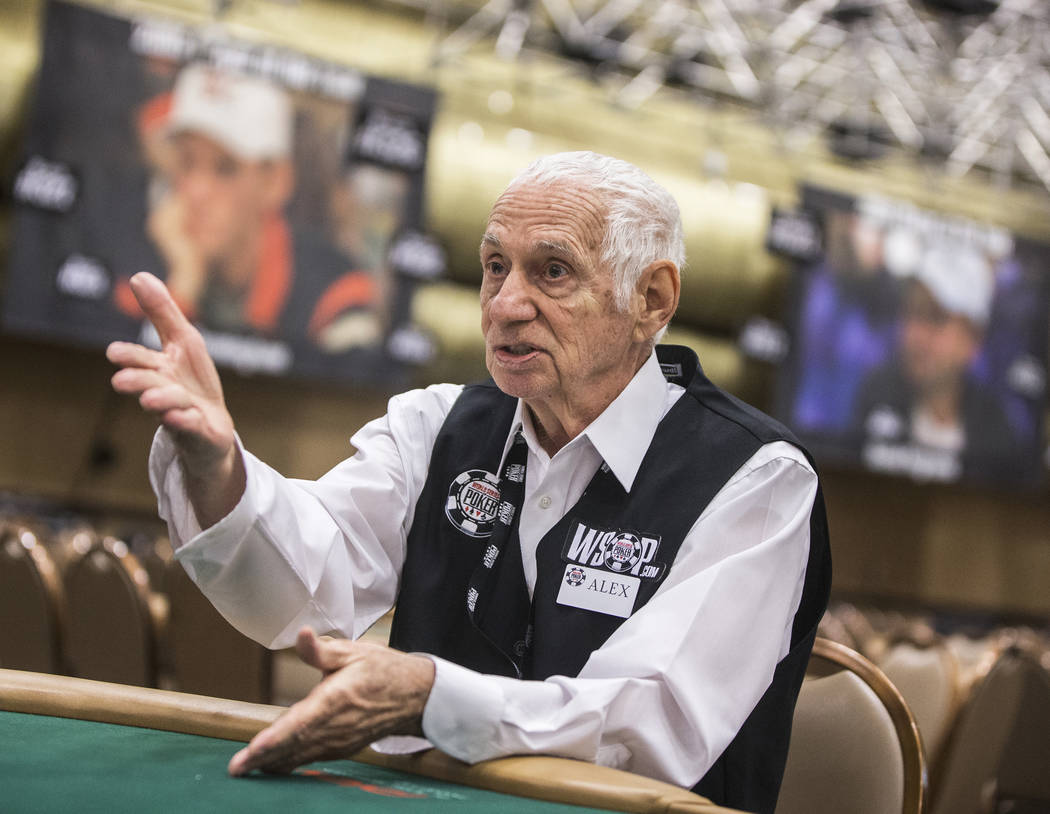 Alex Christoff has been a dealer at the World Series of Poker for more than 30 years. Photo taken on Wednesday, June 7, 2017, at the Rio hotel-casino, in Las Vegas. Benjamin Hager Las Vegas Review ...