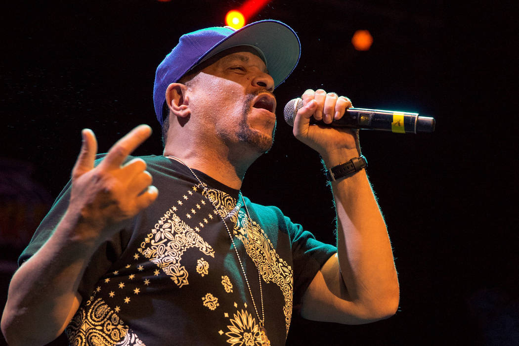 Ice T performs at Art of Rap festival at Hollywood Casino Ampitheater in Tinley Park, Illinois, in 2016. (Rex Features via AP Images)