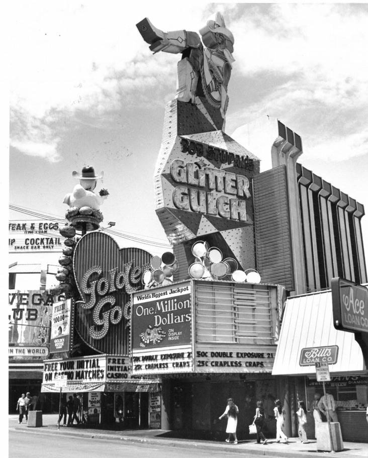 The iconic Vegas Vickie neon sign is seen this Las Vegas Review-Journal file photo from August 1981.