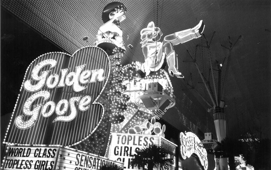 The iconic Vegas Vickie neon sign is seen this Las Vegas Review-Journal file photo from December 1996.