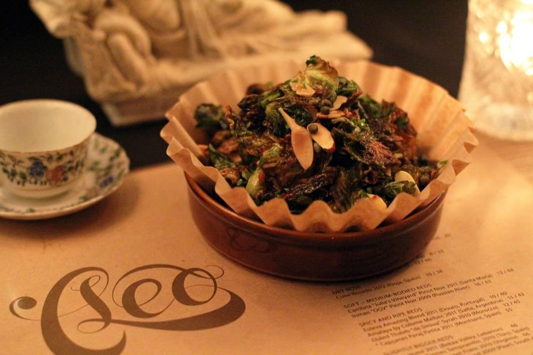 Brussels sprouts dish at Cleo at SLS Las Vegas. SLS Las Vegas