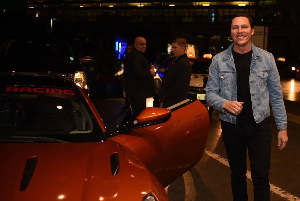 DJ Tiesto arrives to accept his Key to the Strip at MGM Grand on Saturday, Jan. 14, 2017, in Las Vegas. (Aaron Garcia)
