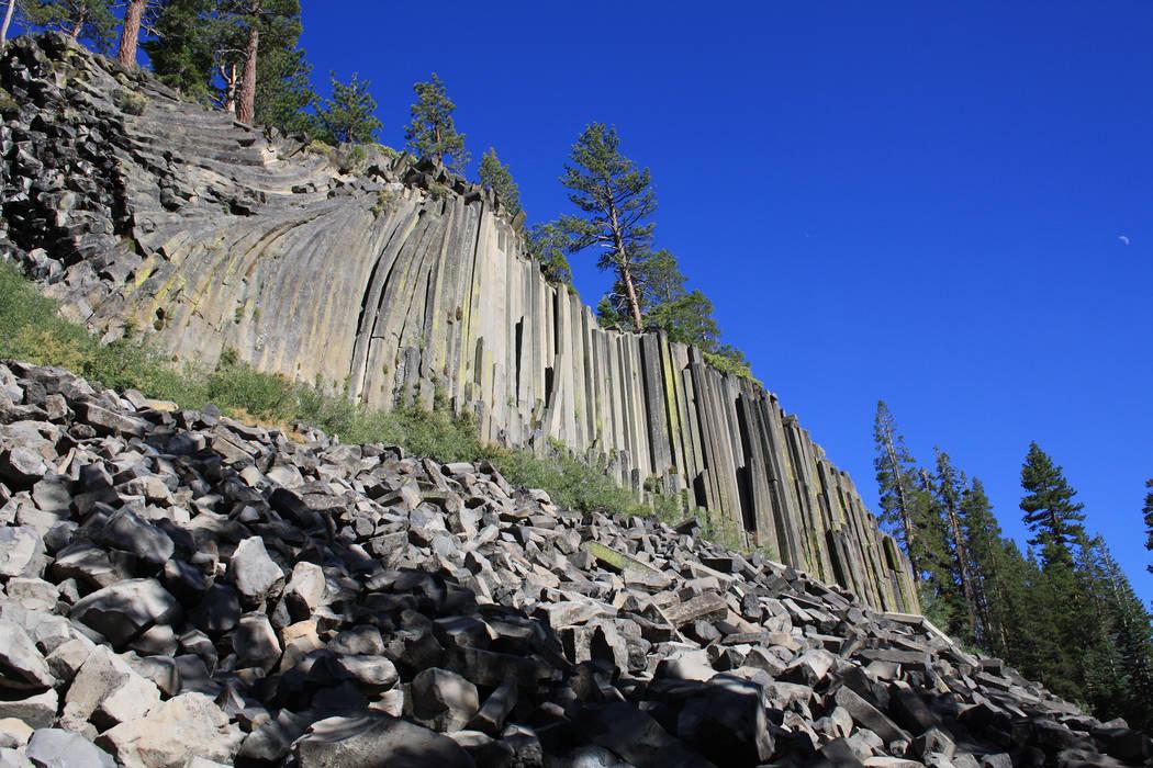 Devils Postpile National Monument is best known for its rare columnar basalt formation. (Deborah Wall)