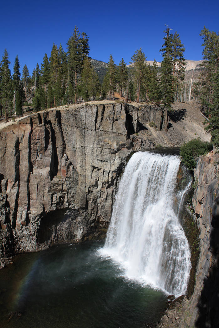 One day hike in the monument takes you to Rainbow Falls, a 100-foot waterfall along the Middle Fork of the San Joaquin River. (Deborah Wall)