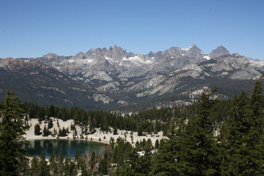 The Minarets are the jagged peaks located in the Ritter Range, here seen from Mammoth Lakes, Calif. (Deborah Wall)