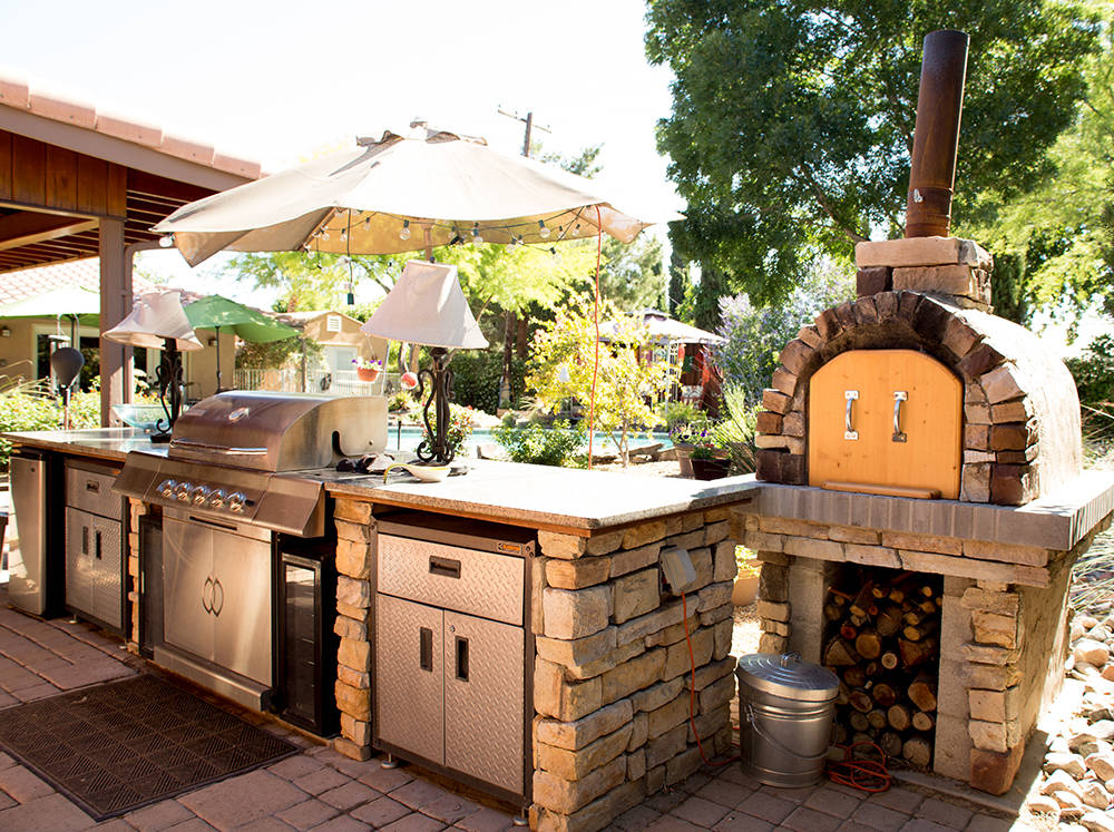 Chris Giunchigliani's late husband, Gary, built this wood-burning oven as part of their outdoor kitchen. (Tonya Harvey Real Estate Millions)