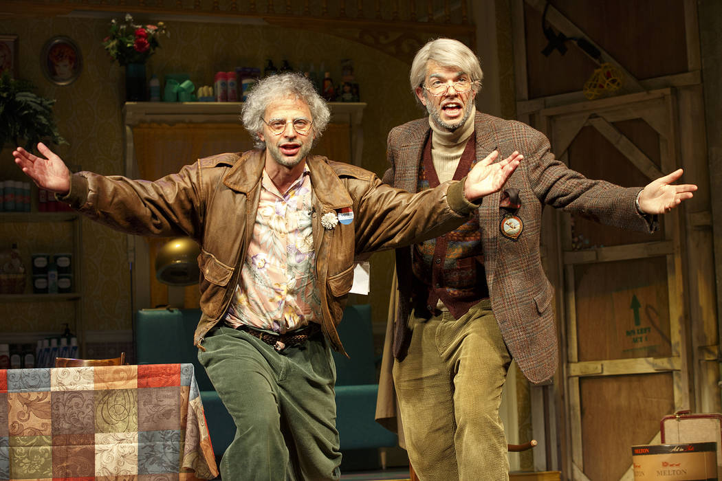 "Nick Kroll, left, and John Mulaney star in ""Oh, Hello on Broadway."" (Joan Marcus)"