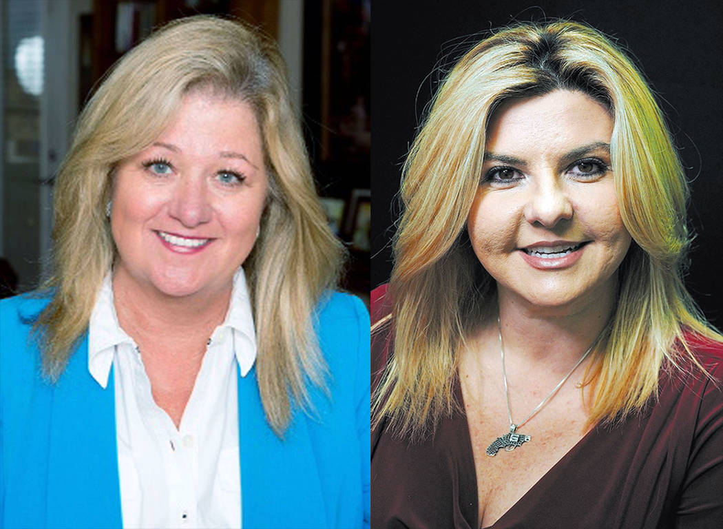 Kelli Ross, left, and Michele Fiore. (Las Vegas Review-Journal)