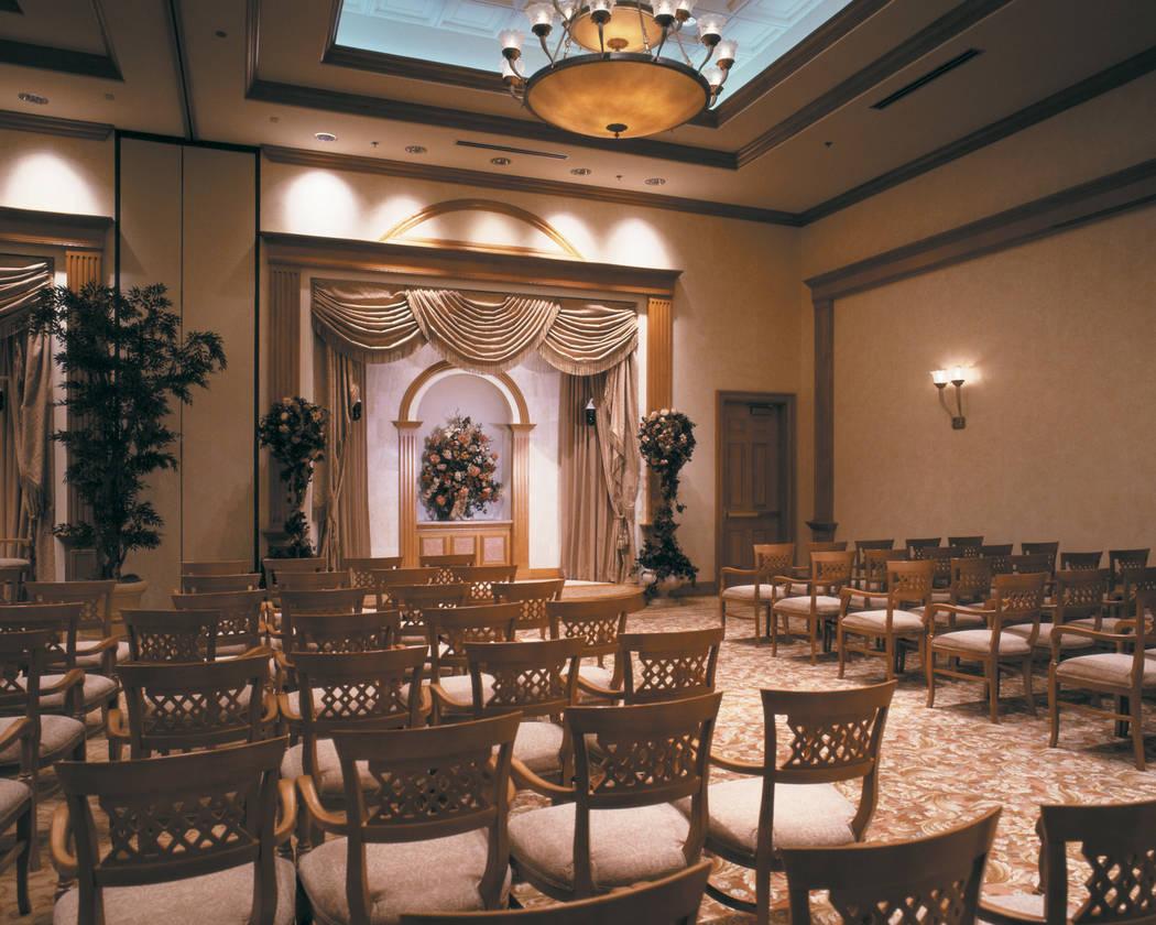 The wedding chapel at Texas Station, 2101 Texas Star Lane. (Laura Carroll/Station Casinos)