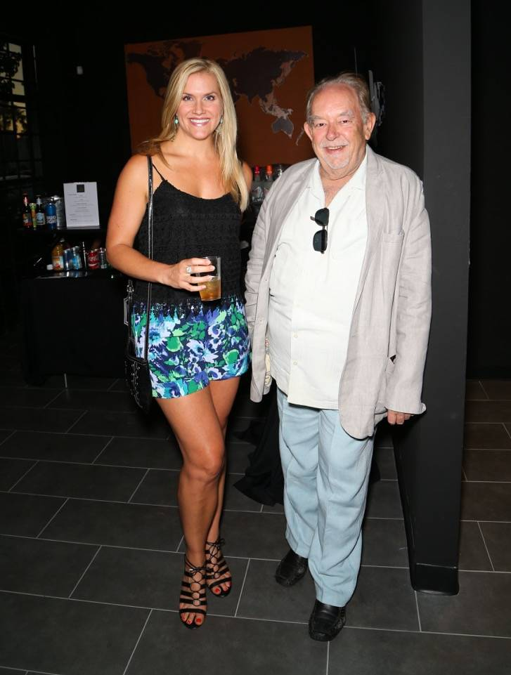 Heather Mills and Robin Leach attend the grand opening of Escape Reality USA on Monday, June 5, 2017, in Las Vegas. (Gabe Ginsberg)
