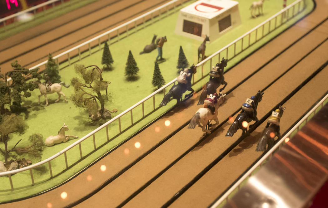 Patrons play the Sigma Derby horse race game at the D Las Vegas in downtown Las Vegas on Friday, June 9, 2017. Richard Brian Las Vegas Review-Journal @vegasphotograph