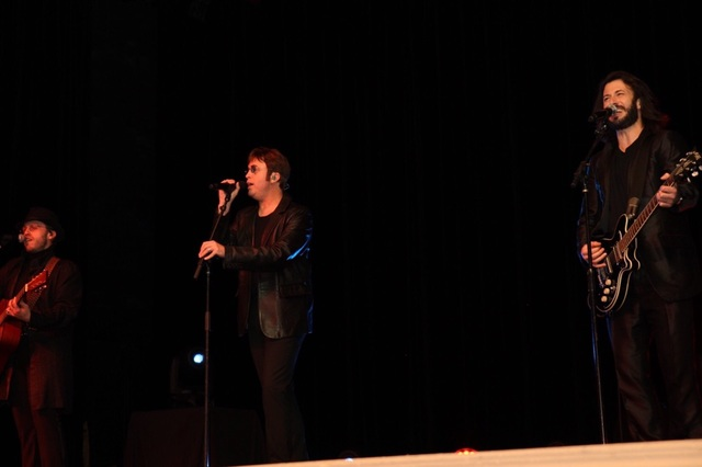 """""""The Australian Bee Gees Show"""" at Excalibur is shown Friday, Nov. 4, 2016, at the 50th anniversary gala for St. Jude's Children's Ranch at Green Valley Ranch. (Tonya Harvey)"""
