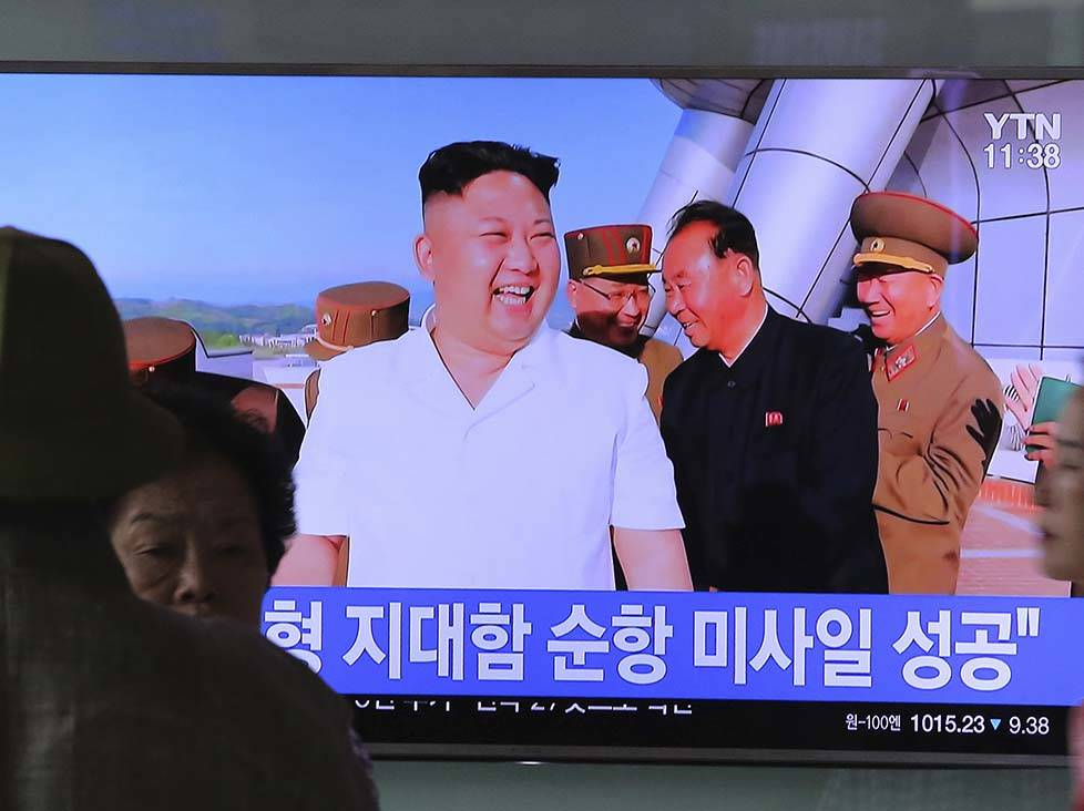South Korea leader warns North Korea after latest missile launch