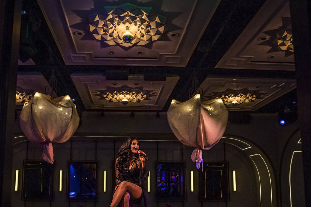 Mikalah Gordon performs at Rose.Rabbit.Lie on Thursday, June 15, 2017, at the Cosmopolitan hotel-casino, in Las Vegas. Benjamin Hager Las Vegas Review-Journal @benjaminhphoto