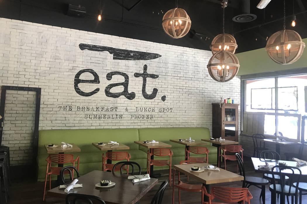 Dining room at Eat Summerlin (Al Mancini)