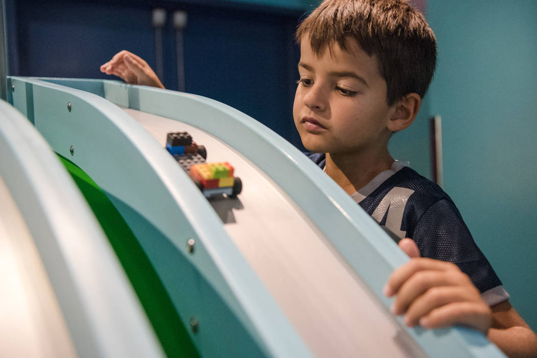 Jackson Marlin, 9,  on the miniature race track at   Discovery Children's Museum on Friday, June 9, 2017, in Las Vegas. Morgan Lieberman Las Vegas Review-Journal