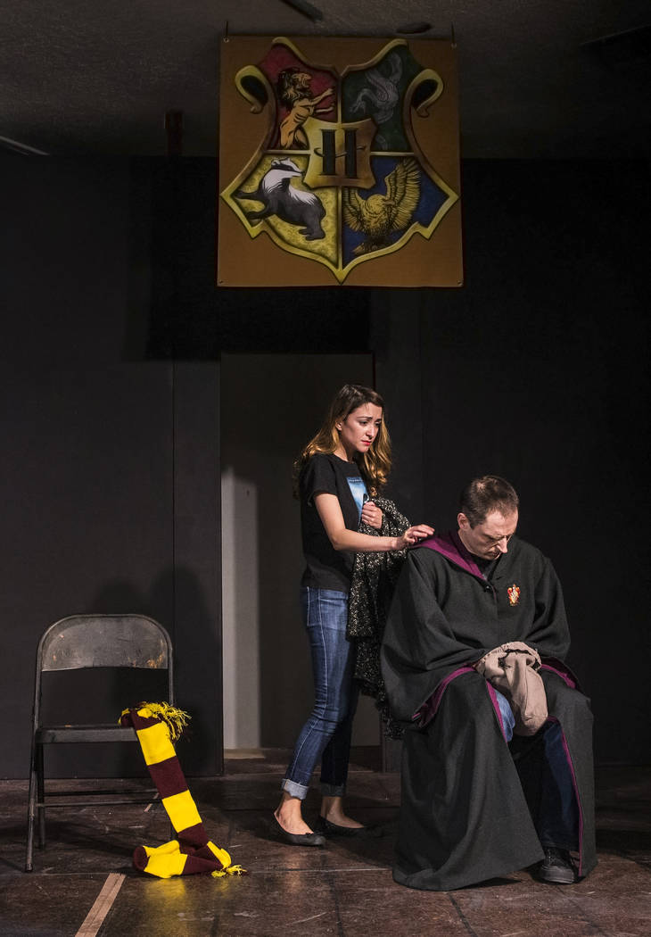 """Actors work through a scene in """"Marauders no More"""" during rehearsal for the Majestic Repertory Theatre's """"Potter Plays"""" on Tuesday, June 13, 2017, in Las Vegas. Benjamin Hager Las Vegas Review-Jou ..."""