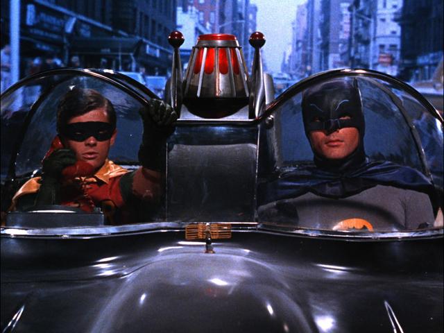 "Burt Ward, left, and Adam West star in ""Batman."" (Courtesy Warner Bros. Home Entertainment)"