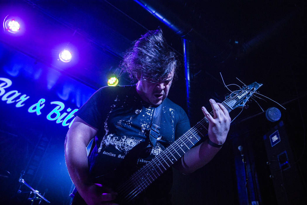 El Paso, TX metal band Defleshed and Gutted performs during Las Vegas Death Fest on Thursday, June 8, 2017, at Backstage Bar & Billiards, in Las Vegas. Benjamin Hager Las Vegas Review-Journal  ...