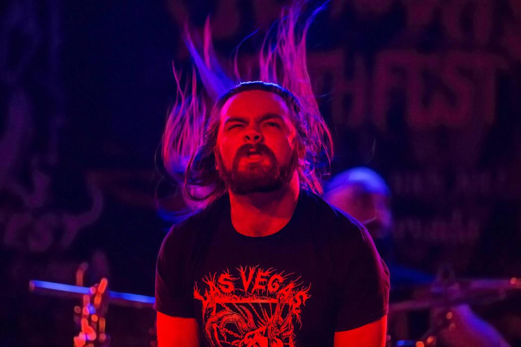 Cryptic Enslavement performs during Las Vegas Death Fest on Saturday, June 10, 2017, at Backstage Bar & Billiards, in Las Vegas. Benjamin Hager Las Vegas Review-Journal @benjaminhphoto