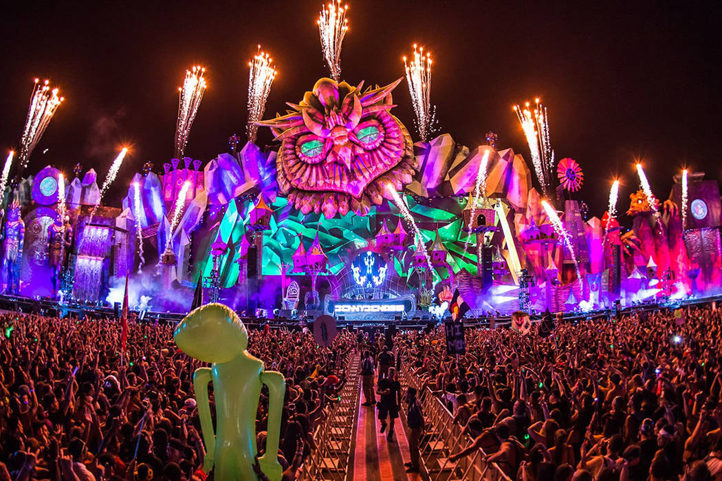 The Electric Daisy Carnival at Las Vegas Motor Speedway.