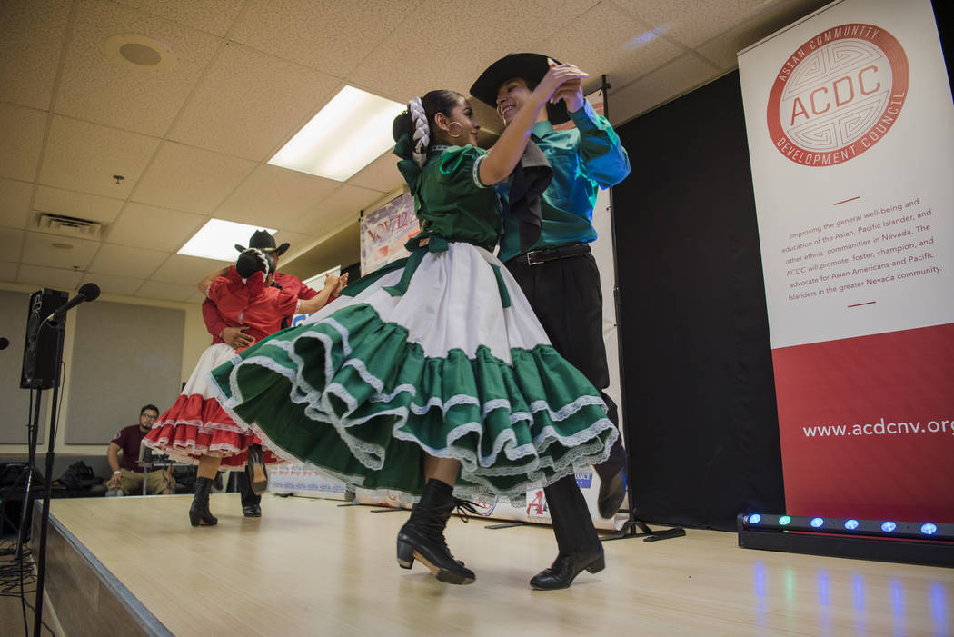 "Grupo Folklorico Libertad de Las Vegas performs at the ""I Am An Immigrant"" celebration event at the Asian Culture Alliance Center on Saturday, June 10, 2017, in Las Vegas. The ev ..."