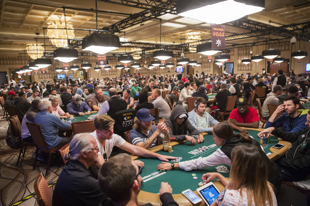 Thousands of players compete during the World Series of Poker on Saturday, June 10, 2017, at the Rio hotel-casino, in Las Vegas. Benjamin Hager Las Vegas Review-Journal @benjaminhphoto