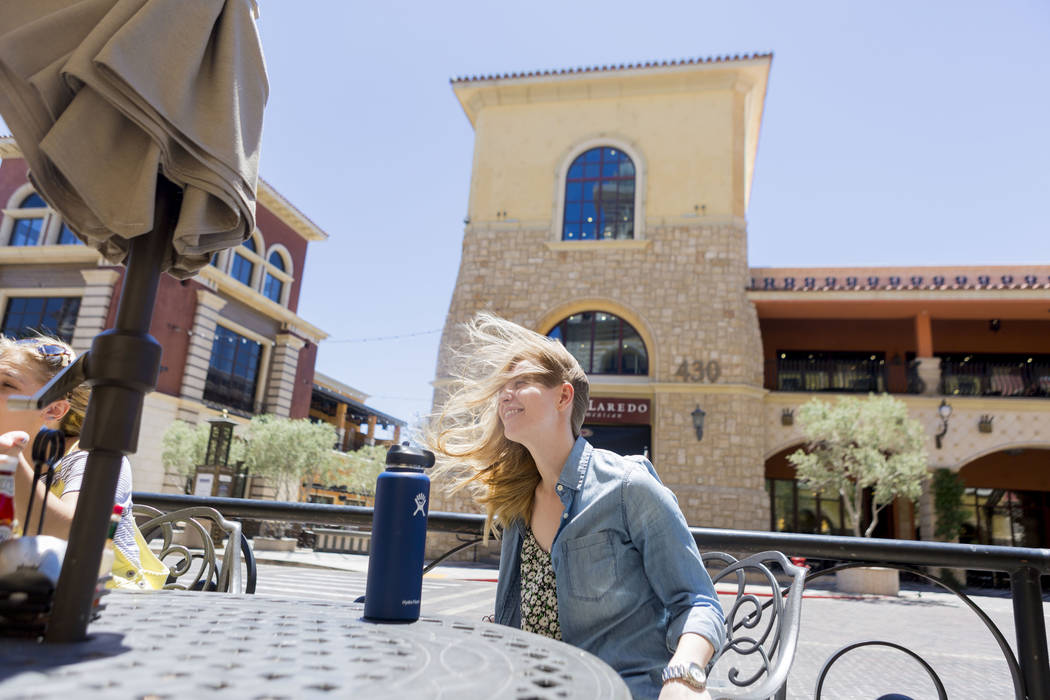 Steffanie Gibson sits down at Leone Cafe in Tivoli Village, Las Vegas, Sunday, June 11, 2017. Elizabeth Brumley/ The Las Vegas Review-Journal