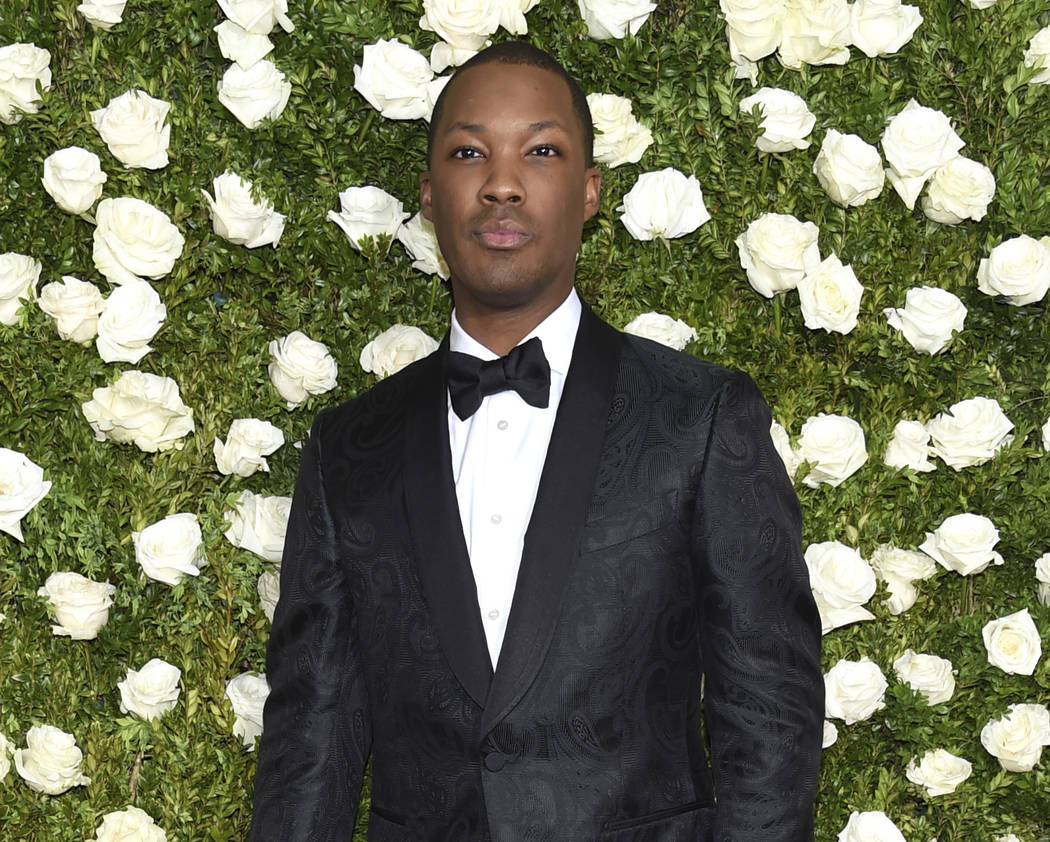 Corey Hawkins arrives at the 71st annual Tony Awards at Radio City Music Hall on Sunday, June 11, 2017, in New York. (Photo by Evan Agostini/Invision/AP)