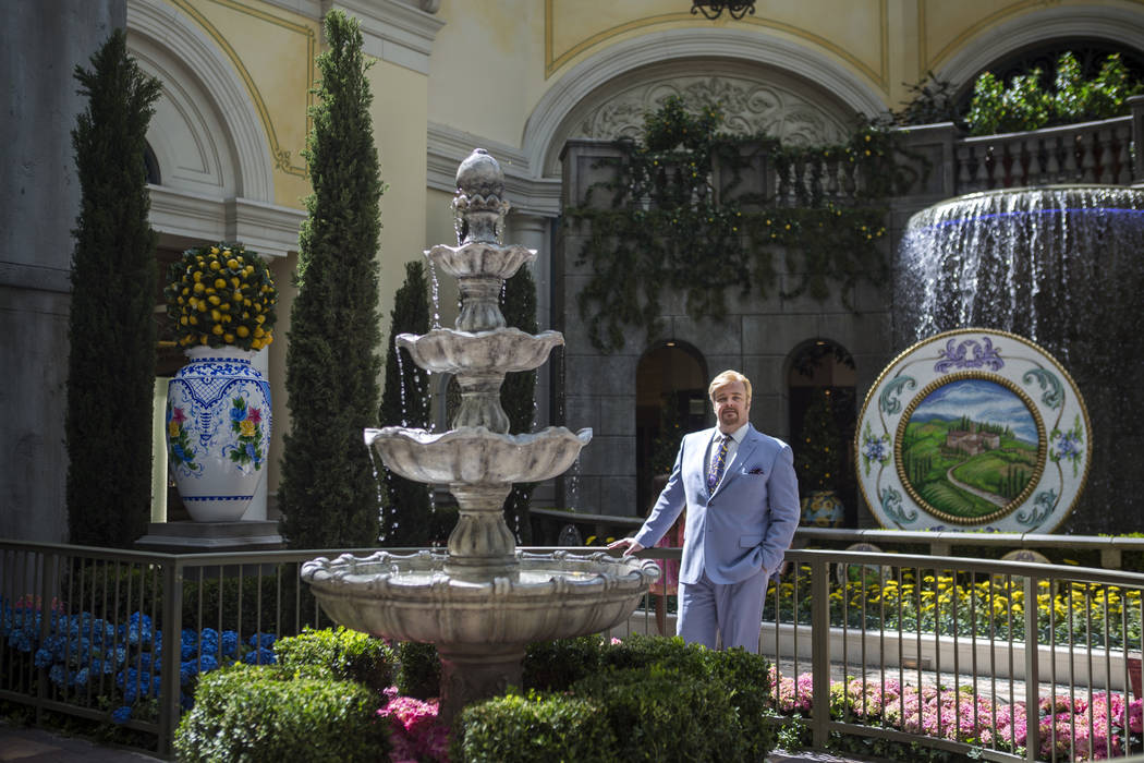 Ed Libby, conservatory designer, during the opening of his new Italian-inspired display at Bellagio's Conservatory & Botanical Gardens on Monday, June 12, 2017.  Patrick Connolly Las Vegas Rev ...