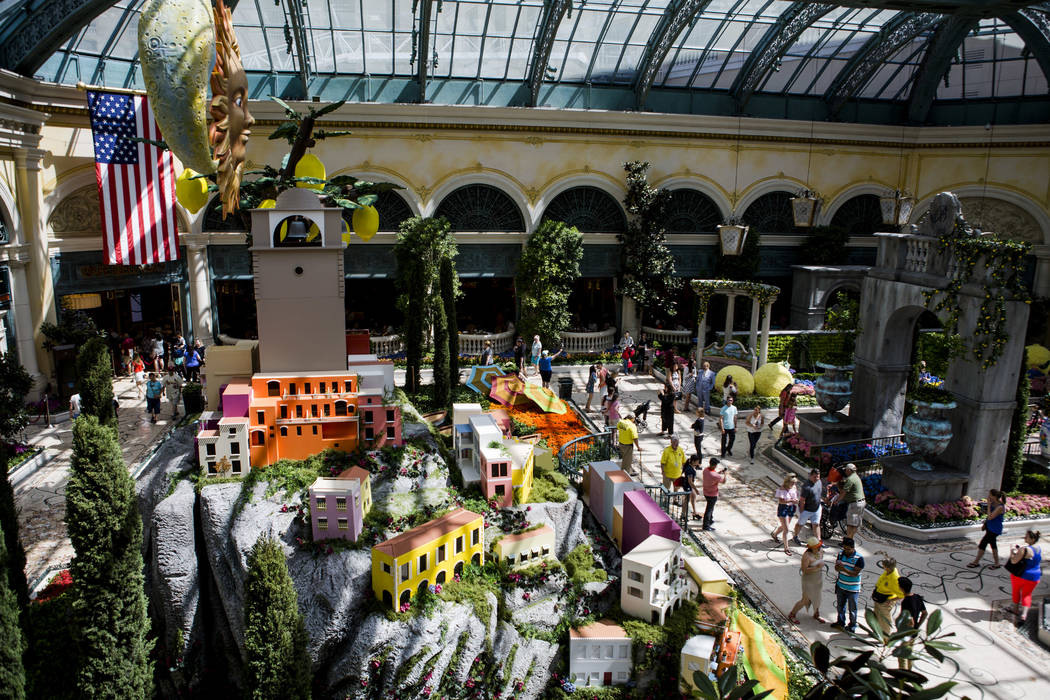 The opening of the new Italian-inspired display at Bellagio's Conservatory & Botanical Gardens on Monday, June 12, 2017.  Patrick Connolly Las Vegas Review-Journal @PConnPie