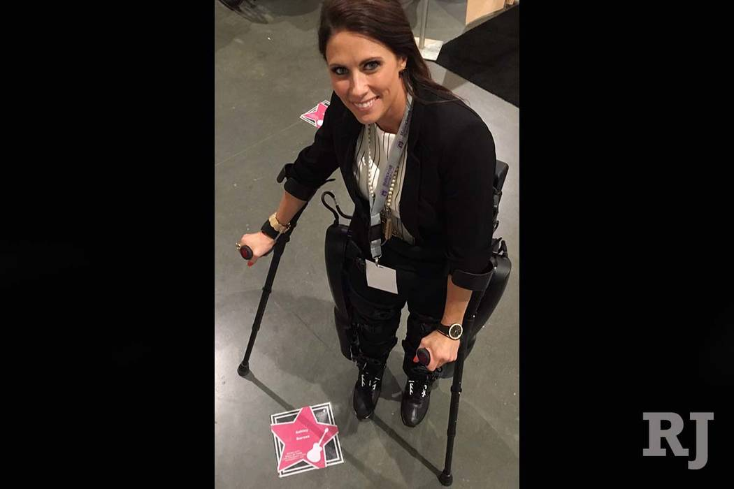 """A botched spinal procedure in 2014 paralyzed Ashley Barnes from the waist down. Her insurer has denied numerous requests to pay for the ReWalk system saying it is not """"medically necessary."""" (The W ..."""