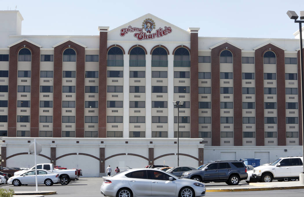 Arizona Charlie's hotel-casino on 740 S. Decatur Blvd., Monday, June 12, 2017, in Las Vegas. Golden Entertainment, operators of the PT's Pubs chain is acquiring a company that owns four Nevada cas ...